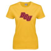 Ladies Gold T Shirt-BCU