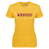 Ladies Gold T Shirt-Wildcats in Box