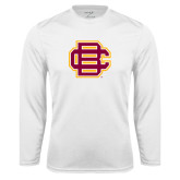 Syntrel Performance White Longsleeve Shirt-BC Logo