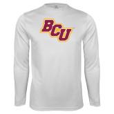Performance White Longsleeve Shirt-BCU