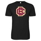 Next Level SoftStyle Black T Shirt-Primary Mark
