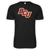 Next Level SoftStyle Black T Shirt-BCU