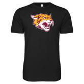 Next Level SoftStyle Black T Shirt-Wildcat Head