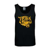 Black Tank Top-Wildcat Head