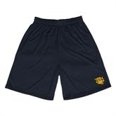 Performance Black 9 Inch Length Shorts-Wildcat Head