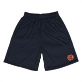 Performance Black 9 Inch Length Shorts-BC Logo
