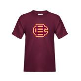 Youth Maroon T Shirt-BC Logo