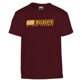 Youth Maroon T Shirt-Wildcats in Box