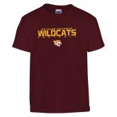 Youth Maroon T Shirt-Football Yards Design