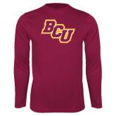 Performance Maroon Longsleeve Shirt-BCU