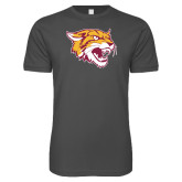 Next Level SoftStyle Charcoal T Shirt-Wildcat Head