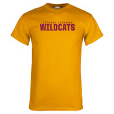 Gold T Shirt-Bethune Cookman Wildcats Stacked