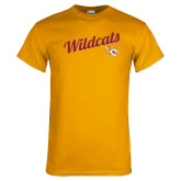 Gold T Shirt-Wildcats w/Mascot