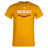 Gold T Shirt-Baseball Abstract Plate Design