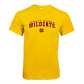 Gold T Shirt-Arched Bethune-Cookman Wildcats