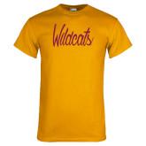 Gold T Shirt-Wildcats Script