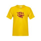Youth Gold T Shirt-Wildcat Head