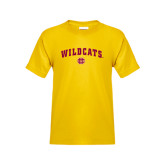 Youth Gold T Shirt-Wildcats w/BC