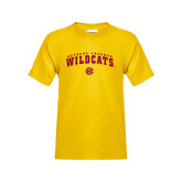 Youth Gold T Shirt-Arched Bethune-Cookman Wildcats
