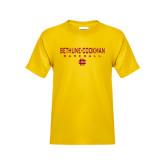 Youth Gold T Shirt-Baseball