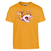 Youth Gold T Shirt-Wildcat Head