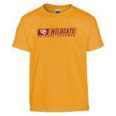 Youth Gold T Shirt-Wildcats in Box