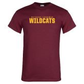 Maroon T Shirt-Bethune Cookman Wildcats Stacked