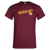 Maroon T Shirt-Wildcats w/Mascot