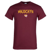 Maroon T Shirt-Football Yards Design