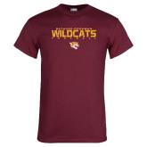 Maroon T Shirt-Football Yards Design