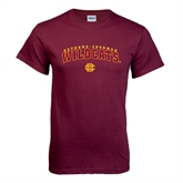 Maroon T Shirt-Arched Bethune-Cookman Wildcats