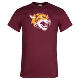 Maroon T Shirt-Wildcat Head