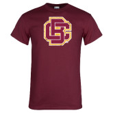 Maroon T Shirt-Primary Mark Distressed