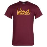 Maroon T Shirt-Wildcats Script