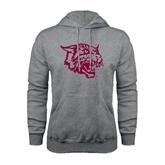 Grey Fleece Hood-Wildcat Head