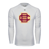 Under Armour White Long Sleeve Tech Tee-BC Logo