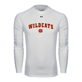 Under Armour White Long Sleeve Tech Tee-Wildcats w/BC
