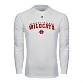 Under Armour White Long Sleeve Tech Tee-Arched Bethune-Cookman Wildcats