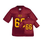 Youth Replica Maroon Football Jersey-#66