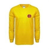 Gold Long Sleeve T Shirt-BC Logo