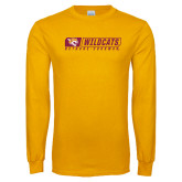 Gold Long Sleeve T Shirt-Wildcats in Box