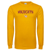 Gold Long Sleeve T Shirt-Football Yards Design