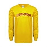 Gold Long Sleeve T Shirt-Bethune-Cookman University