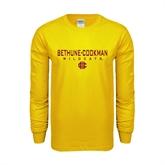 Gold Long Sleeve T Shirt-Bethune-Cookman Wildcats