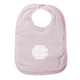 Light Pink Baby Bib-BC Logo