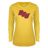 Ladies Syntrel Performance Gold Longsleeve Shirt-BCU