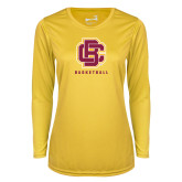 Ladies Syntrel Performance Gold Longsleeve Shirt-Basketball