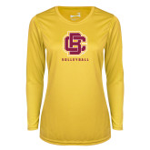 Ladies Syntrel Performance Gold Longsleeve Shirt-Volleyball