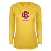 Ladies Syntrel Performance Gold Longsleeve Shirt-Football
