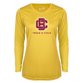 Ladies Syntrel Performance Gold Longsleeve Shirt-Track and Field